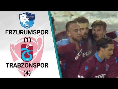 Erzurumspor 1 - 4 Trabzonspor MAÇ ÖZETİ (Ziraat Türkiye Kupası Çeyrek Final Rövanş Maçı)